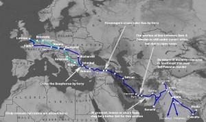 Treinroute naar India