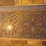 Muurdecoratie Jameh Moskee, Esfahan